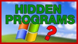Hidden Programs in Windows - ThioJoeTech