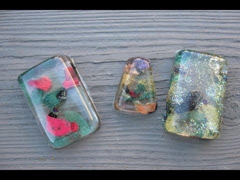 Nail polish resin pendant craft tutorial youtube for Nail polish crafts