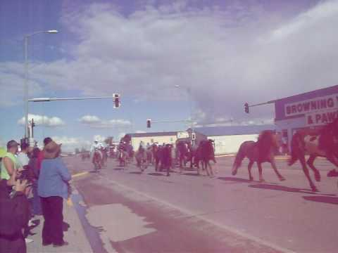 Browning, MT   Running of the Horses 2010