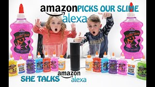Amazon Alexa Picks Our Slime Ingredients Slime Challenge!!DUMP IT