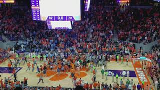 Clemson celebration after win over UNC