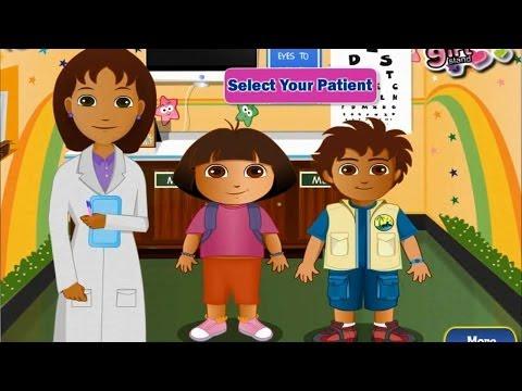 Дора и Диего у глазного врача игра для детей