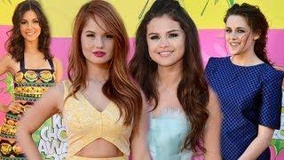 Selena Gomez, Kristen Stewart, Victoria Justice, Debby Ryan - Kids' Choice Awards 2013 Fashion Recap