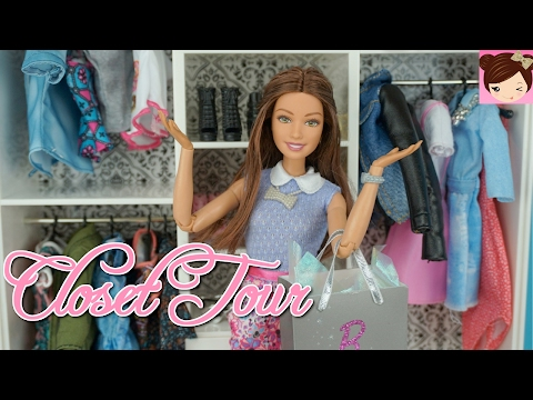 Barbie Real Closet Tour - Doll Clothes and Accessory Haul  - Titi Toys and Dolls