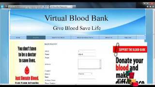 Final Year Projects | Virtual blood Bank