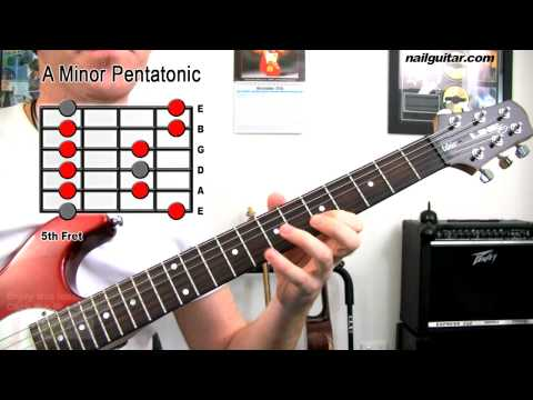 A Minor Pentatonic Scale - Guitar Tutorial Lesson (MUST Learn Scale For Blues, Rock & Metal)