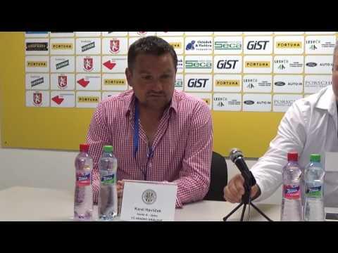 Tisková konference po utkání FC Hradec Králové - FC MAS Táborsko 1:1