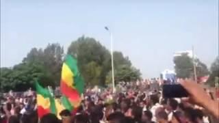 Huge protest underway in Bahirdar- Ethiopia- 07 August 2016