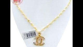 Bộ nữ trang vàng mặt Chanel, Bộ trang sức nữ, Bộ trang sức, TSVN013737