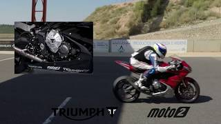 Triumph 765cc Moto2  Engine Testing at Alcarras (First video + Sound)