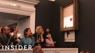 Why Banksy's 'Shredded Girl With Balloon' Painting May Now Be Worth £2 Million