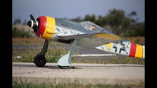 Eric's 1/5 Scale FW190A (SisT) Flight at MRCF