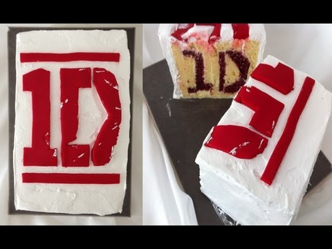 ONE DIRECTION birthday cake with logo inside HOW TO Cook That Ann Reardon
