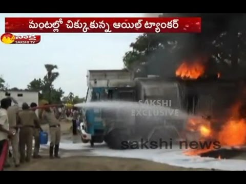 Oil Tanker Burnt in Nalgonda