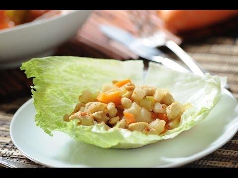 Tacos orientales ligeros - Oriental lettuce tacos - Recetas vegetarianas - Recetas de verduras