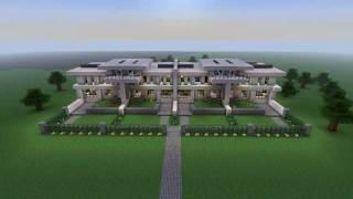 Minecraft Modern Neighborhood - House five townhouse (download) HD