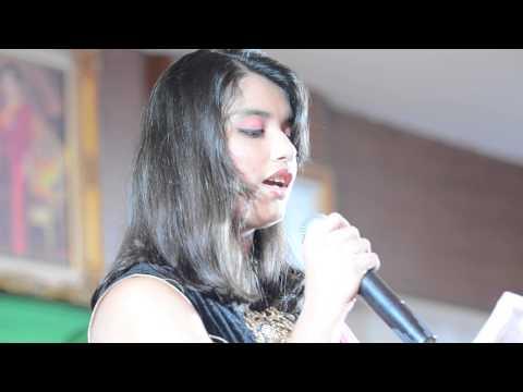 Hrithi singing Kyun na bole mose mohan at Bharati Durgapuja...