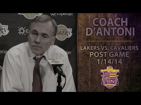 "Lakers vs. Cavs: Coach Mike D'Antoni, ""They Will Fight Through This,"" Talks Jodie Meeks, Pau Gasol"