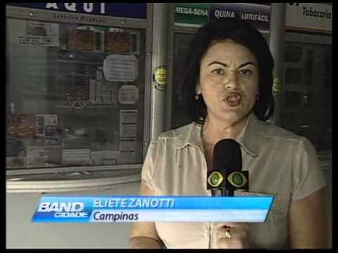 Band Cidade Campinas - assalto casa lotérica - 05 11 2012