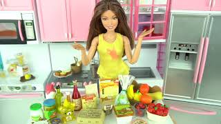 Doll Size Play Food Rement Boxes for Barbie Toy Kitchen - Titi Toys and Dolls Kid Videos