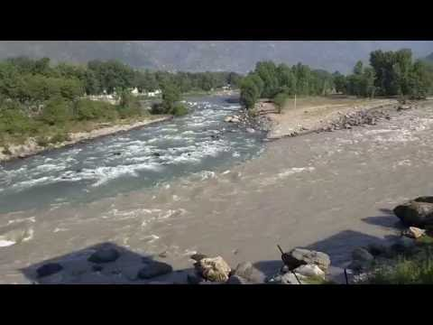View from Hotel Silver face, where river meets Beas and Parbati or Parvati, Bhuntar