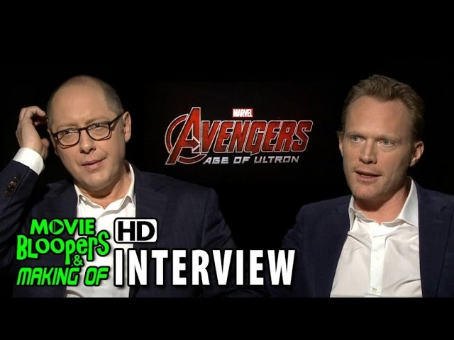 Avengers: Age of Ultron (2015) Official Movie Interview - James Spader & Paul Bettany