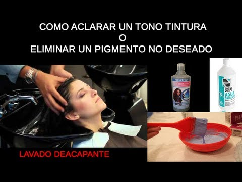 Lavado Decapante Paso a Paso - Washing Hair Color Step by Step