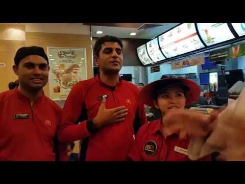 With McDonald's Staff in Al Nahda 2 Dubai 07.07.2016
