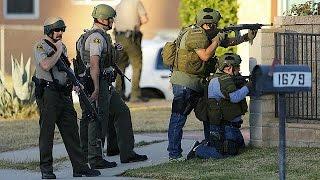 San Bernardino şüphelileri Vuruldu