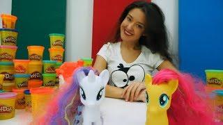 Плей До с Пони. Видео для детей. Веселая Школа.