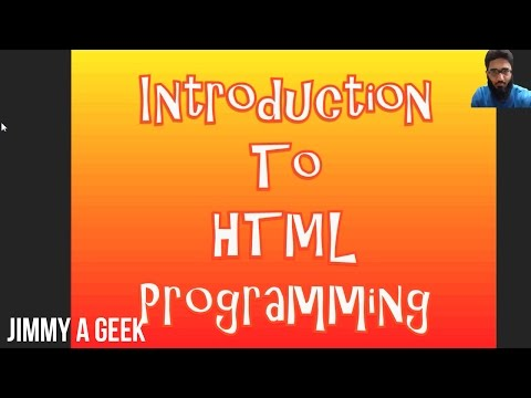 Introduction to HTML Programming - Episode 1