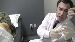 Dr. Stephen Center Inserting Testosterone Pellets on John McMath
