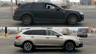 Audi A4 Allroad Quattro vs Subaru Outback S-AWD - 4x4 test on rollers