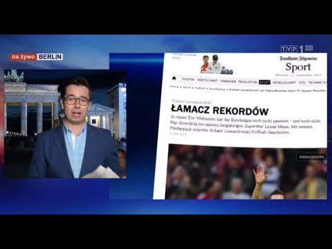 Robert Lewandowski, 5 Goli W 9 Minut, Berlin, Marcin Antosiewicz, Wiadomości TVP1