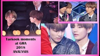 BTS - Taekook  - Twice together backstage - Side by side and caring moments GMA  2018 - analysis