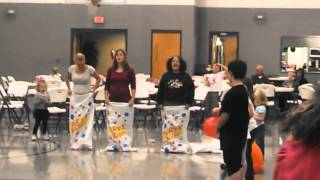 Epic potato bag race fall