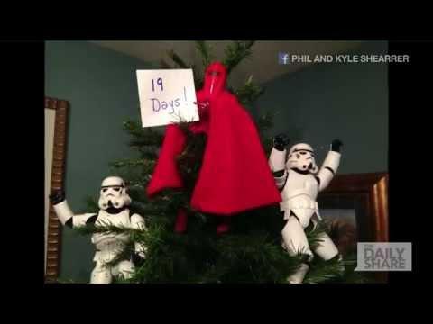 ストームトゥルーパーがクリスマスツリーを作ります♪