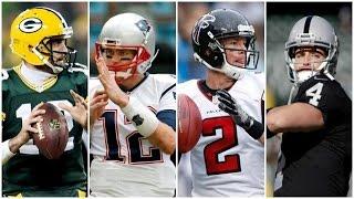 NFL MVP Predictions, Rodgers, Brady, Ryan or Carr?
