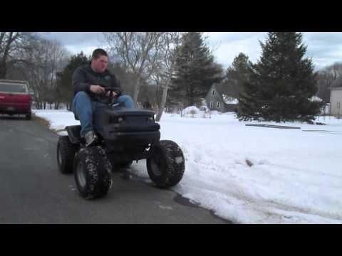 Offroad Mower Last Snow Romp!