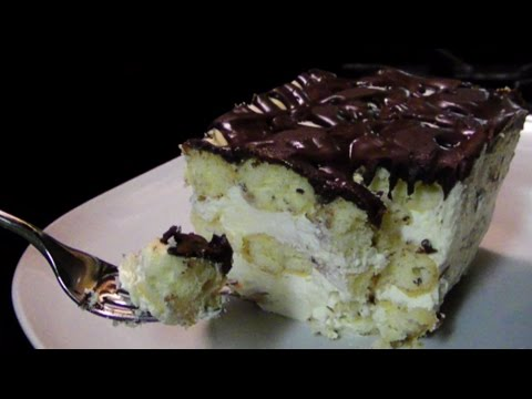 Chocolate Eclair Tiramisu Ice Box Cake