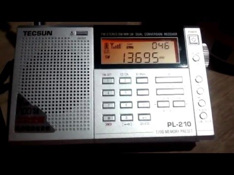 Tecsun PL-210 - All India Radio - 13695 kHz em 22 metros (Ondas Curtas)