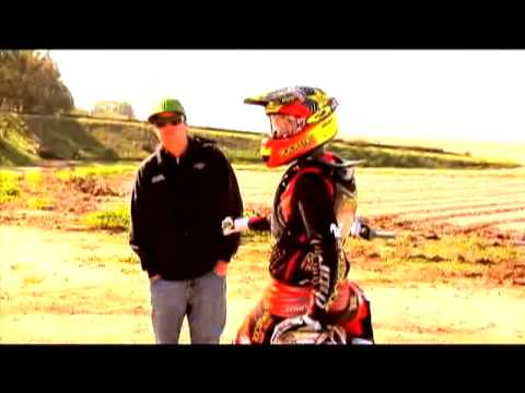 Metal Mulisha Trooper - Jeremy Twitch Stenberg out poaching the neighborhood on his dirt bike, behind the scenes of the advertisement shot.
