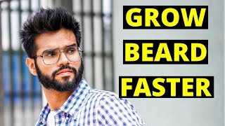 How To GROW BEARD Faster Naturally | SECRET Thicker Beard Growth Tips | San Kalra Grooming HINDI
