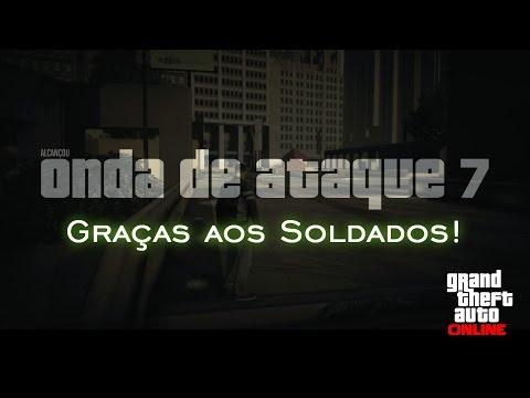 Onda de ataque 7! Graças aos Soldados! | GTA Online [PT-BR]