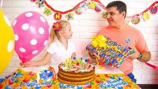 تستعد Nastya مفاجأة لعيد ميلاد بابا