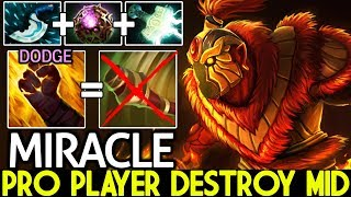 Miracle- [Ember Spirit] Pro player Destroy MK Solo Mid Crazy Game 7.21 Dota 2