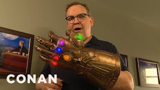 Andy Finds The Infinity Gauntlet  - CONAN on TBS