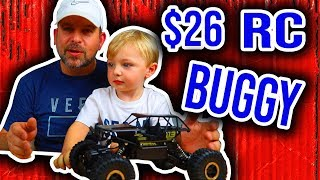 $26 RC Buggy Unboxing and Review.  Featuring Baron.