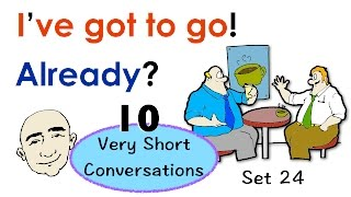 Easy English Conversation Practice | 10 Very Short Conversations | Set 24 | ESL | EFL