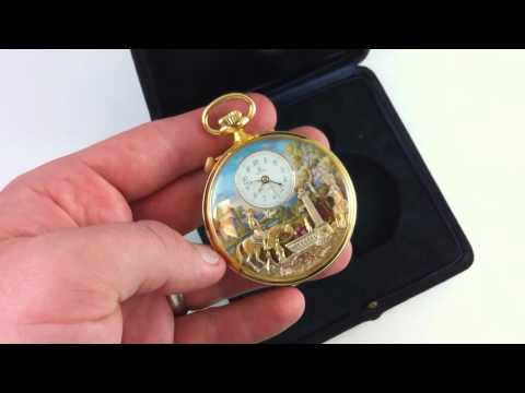 Rare Reuge Swiss 17 Jewel Pocket Watch With Music Box